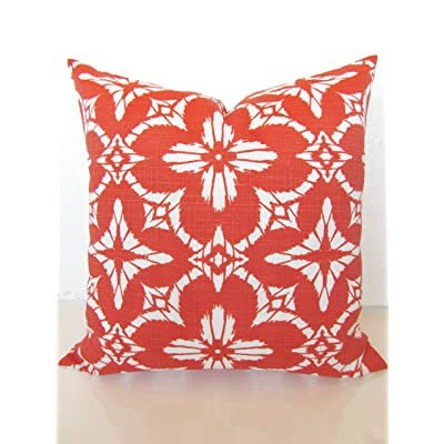 Flowershave357 Coral Pillow Coral Pillow Covers Coral Outdoor Pillows Coral Pillow Sale Orange Coral Outdoor Pillow Covers: Kitchen & Dining
