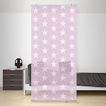 Flächenvorhang set no.yk50 sterne rosa, weiß, sternenhimmel inkl ...