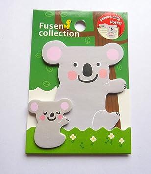 cute koala sticky notes kawaii animal memo pad post it notes amazon