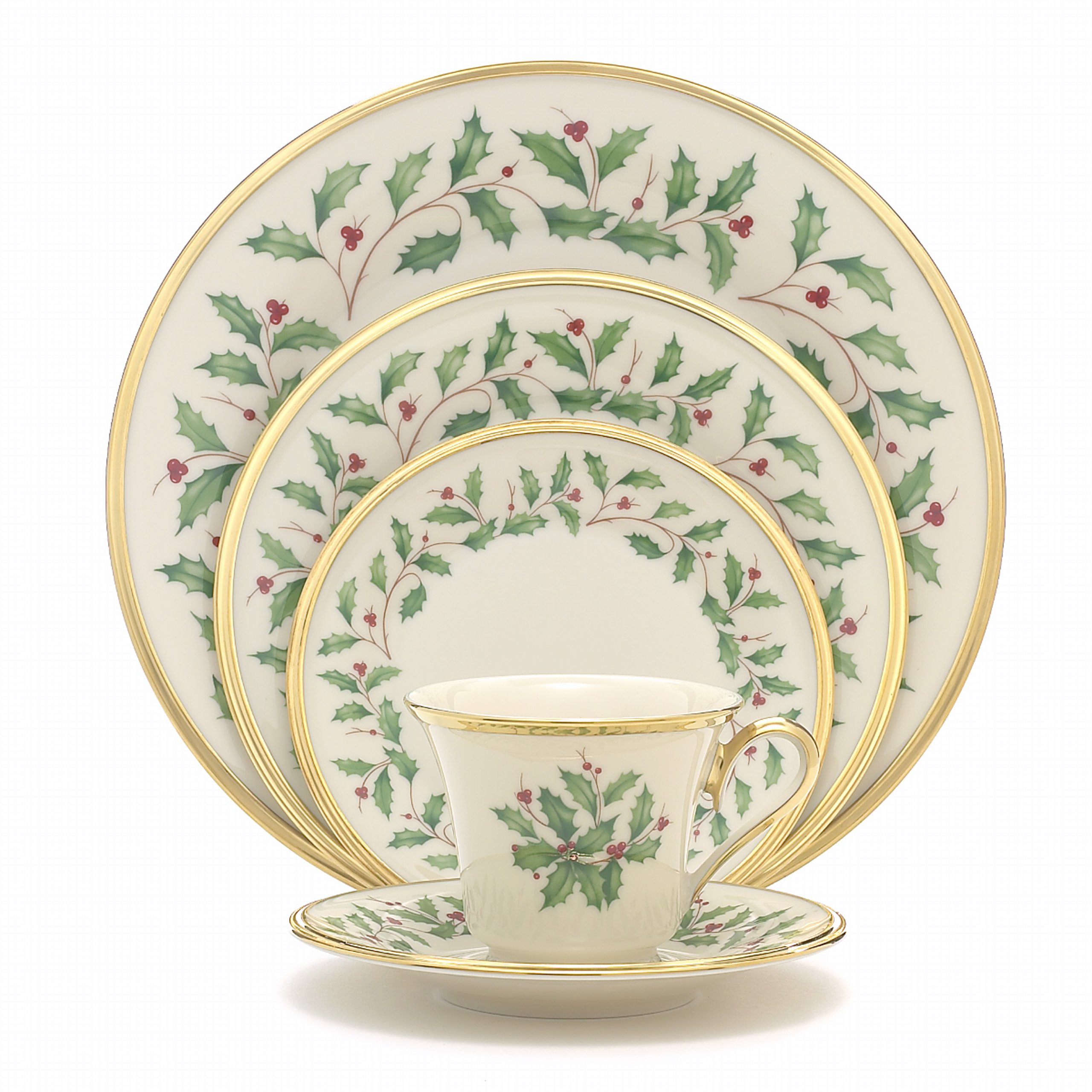 Lenox Holiday 5-Piece Place Setting,Ivory by Lenox (Image #2)
