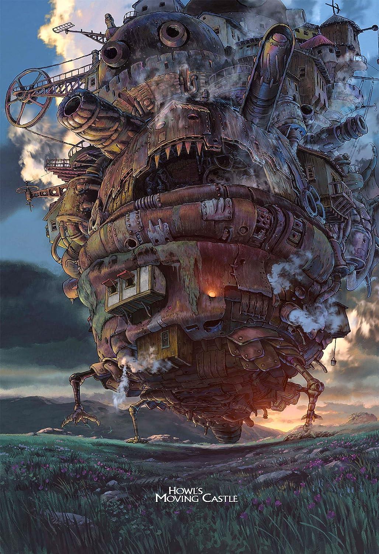 Printing Pira - Howl's Moving Castle Poster,Studio Ghibli Anime Poster (11x17)