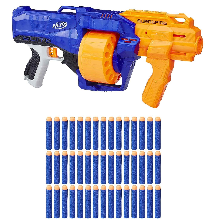 garantía de crédito Nerf N-Strike Elite surgefire Blaster Pistola Tambor Giratorio 45 45 45 Dardos E2592  precios bajos