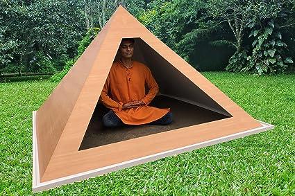 Giza Medium Wight 6 feet Base Wooden Meditation Pyramid for