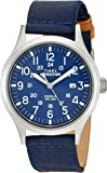 Timex Men's TW4B07000 Expedition Scout Tan/Blue Mixed Material Strap Watch