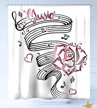Haixia - Cortina de ducha de tela lavable, diseño con texto en inglés
