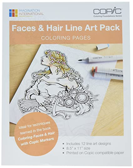 Copic Marker Faces & Hair Coloring Pages