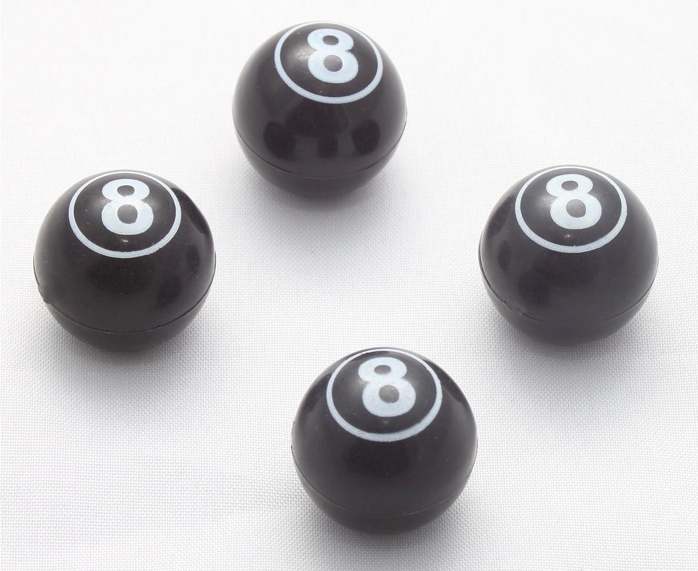 4 x tapones de válvula de bola 8 Billar negro blanco válvula Tapa ...