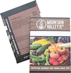 Mountain Valley Seed Company Kale Garden Seeds - Vates Blue Scotch Curled - 2 Gram Packet - Non-GMO, Heirloom- Vegetable Gardening & Microgreens