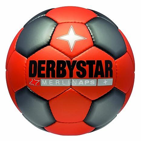 Derbystar Merlin APS - Balón de fútbol, color naranja/gris/negro ...