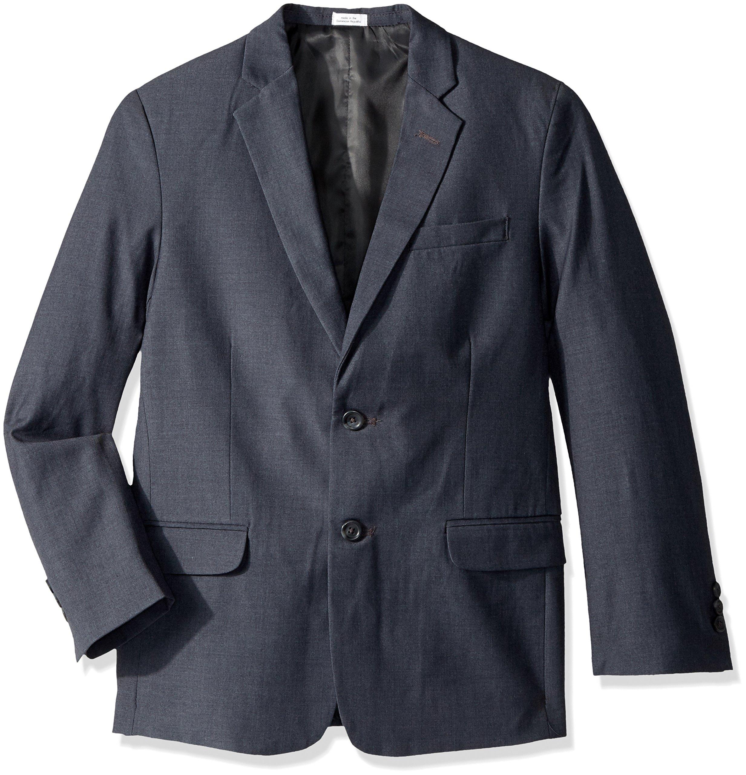 Calvin Klein Husky Boys' Blazer Jacket, Fine Line Charcoal, 14
