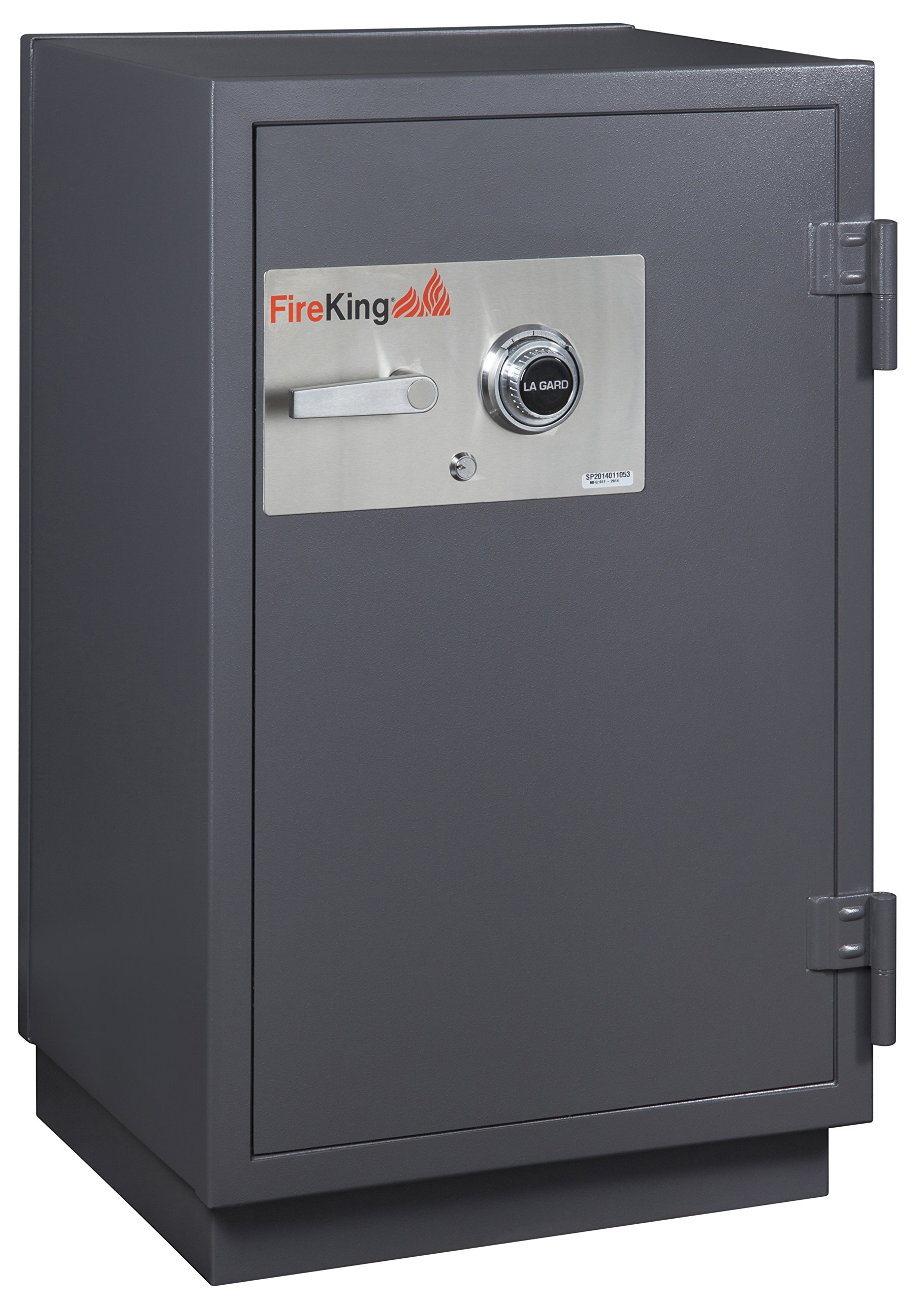 Fireking 2-Hour Fire with Impact & Burglary Rated Safe, 41.13'' H x 25.5'' W x 22.88'' D/4.9 cu. ft., Graphite