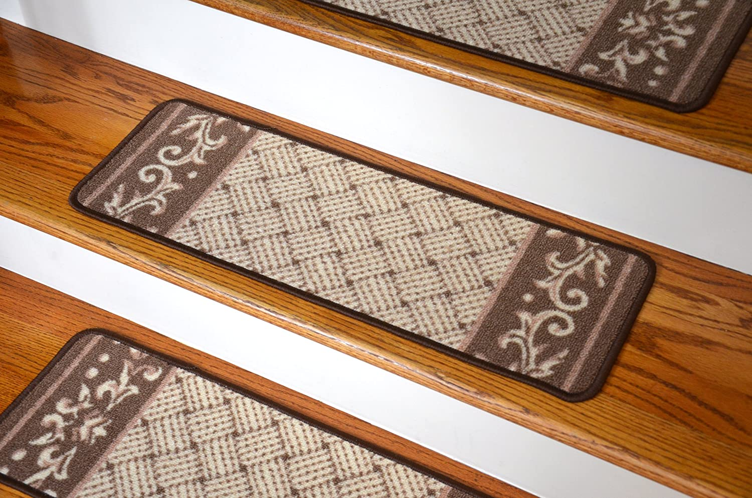 Amazon.com: Carpet Stair Treads - Caramel Scroll Border: Everything Else