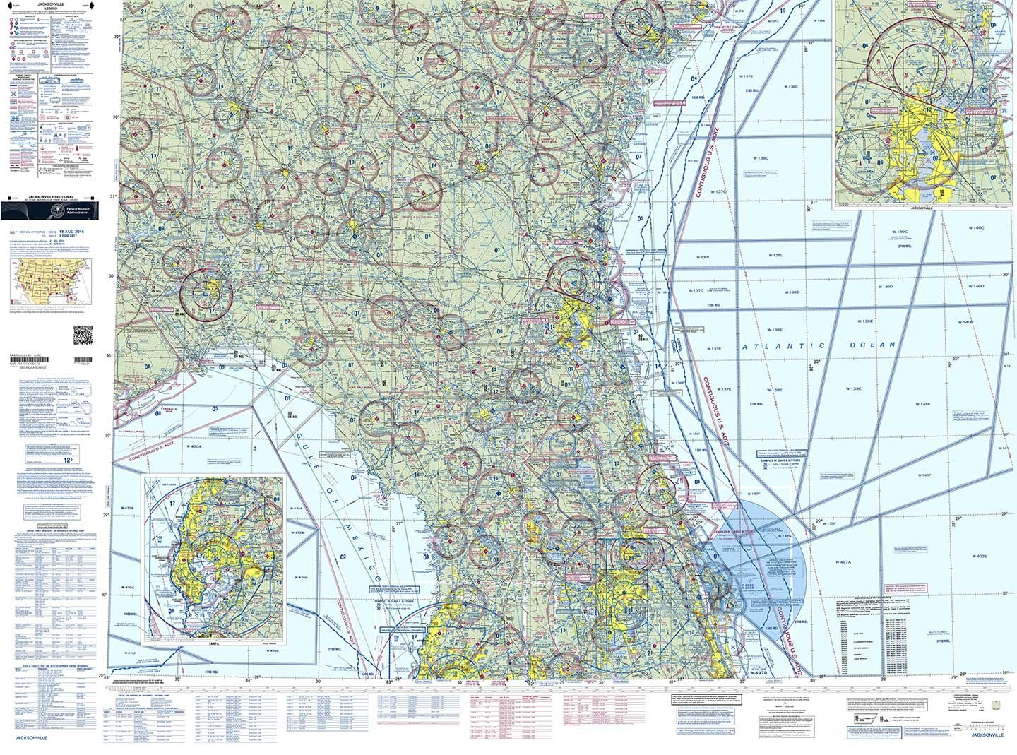 cb133edcf04 Amazon.com  FAA Chart  VFR Sectional JACKSONVILLE SJAC (Current Edition)   GPS   Navigation