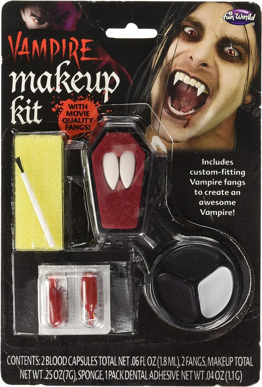 Vampire Dracula Makeup 5 colour Kit with teeth Fancy Dress Halloween Makeup