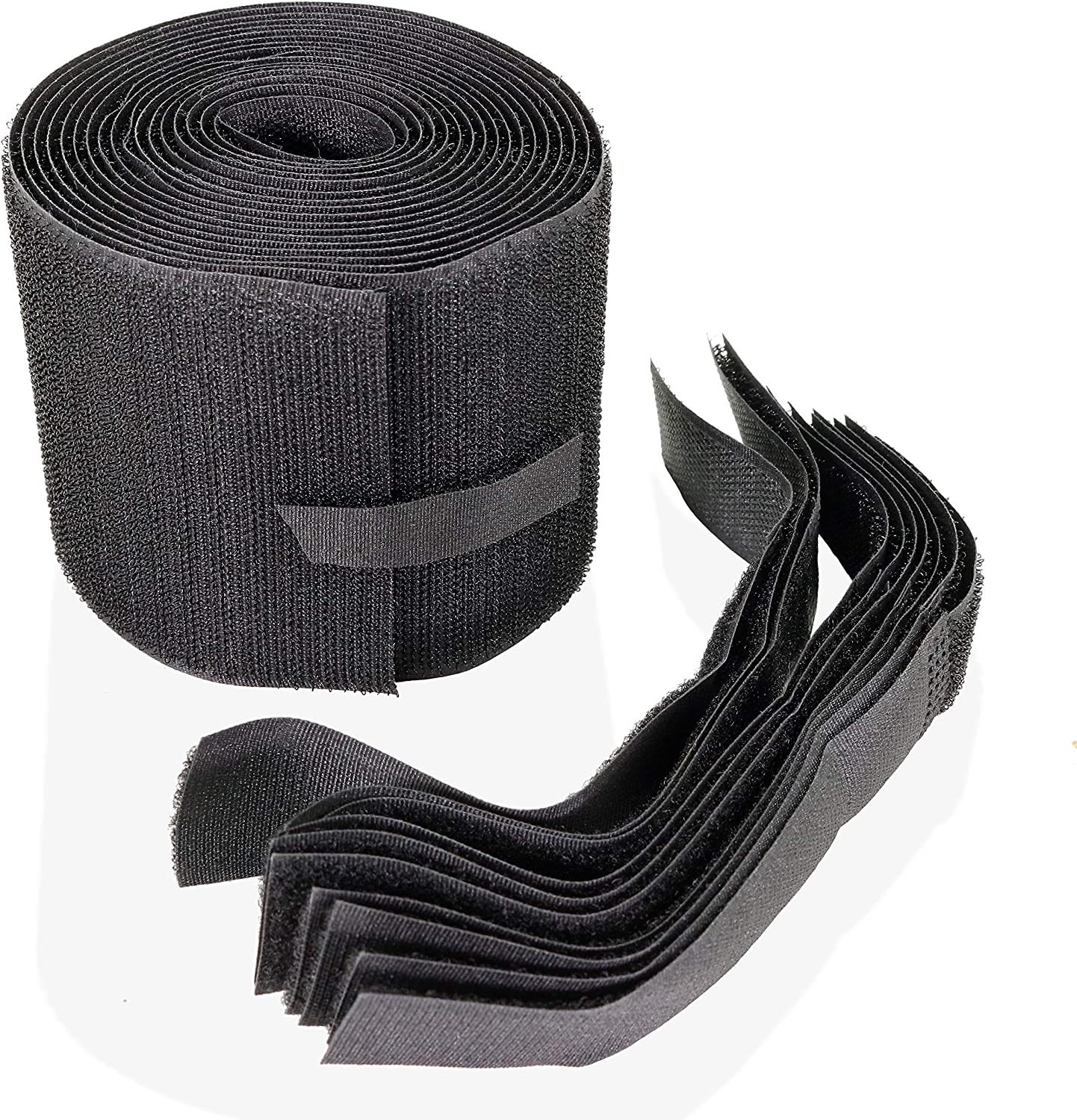 SPLENDIDMODE Carpet Cable Cover Protector Comes with 10 Cable Ties, Black Nylon Cord Cover for Office and Commercial Floor Carpets, 3 Inch x 10 Feet