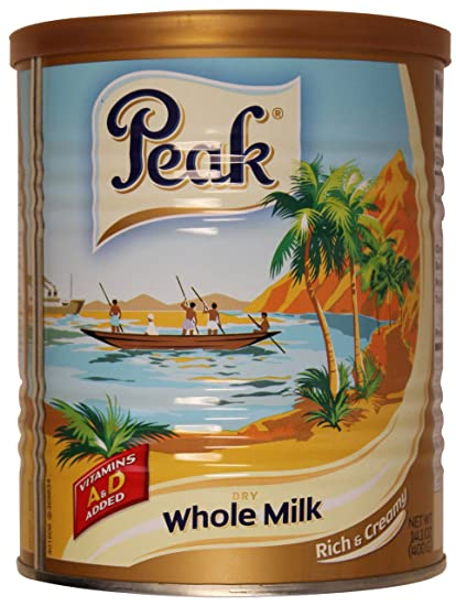 Peak Dry Whole Milk Powder de 400 gramos (paquete de 2)