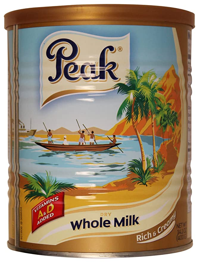 Peak Dry Whole Milk Powder de 400 gramos (paquete de 2): Amazon.es: Alimentación y bebidas