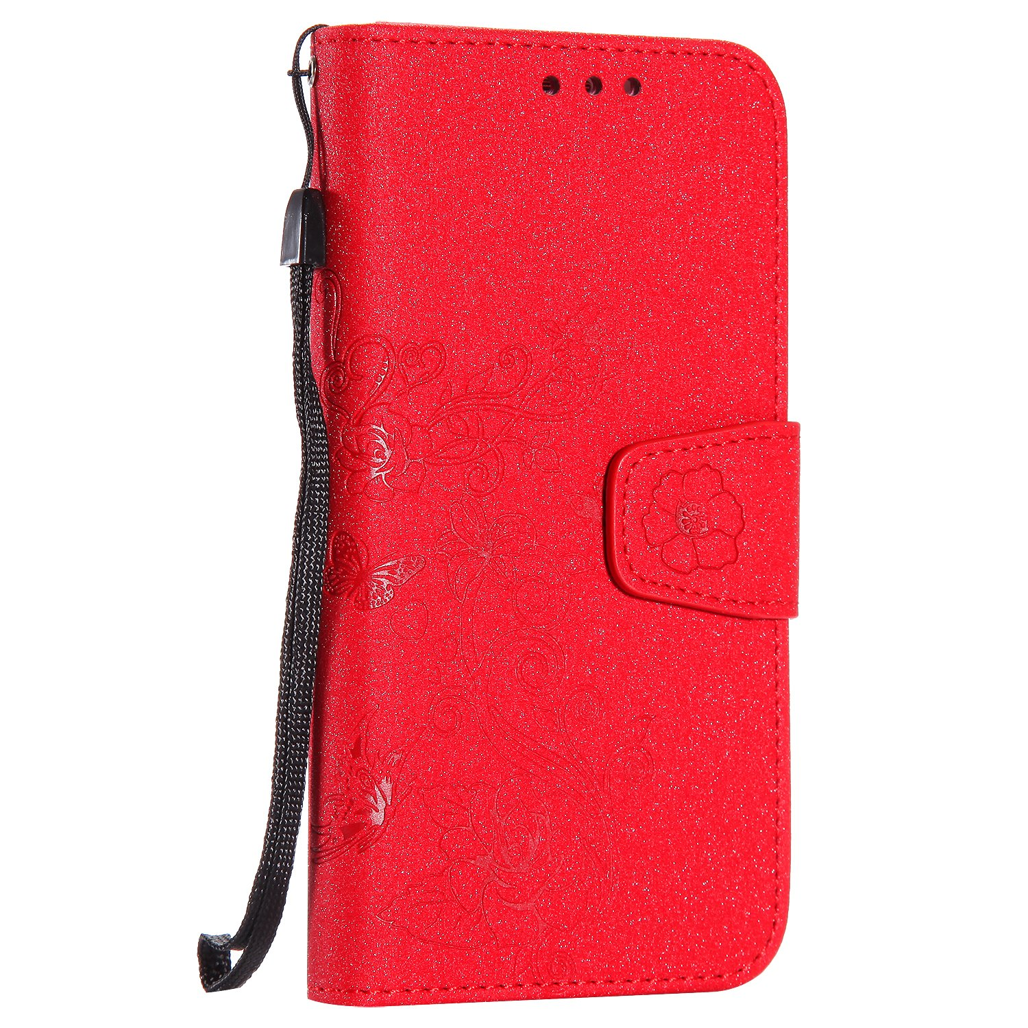 Lomogo [Detachable] Galaxy S7 Edge Leather Wallet Case with Kickstand Credit Card Holder Magnetic Closure Shockproof Flip Case Cover for Samsung Galaxy S7 Edge - LOHHA10103 Red