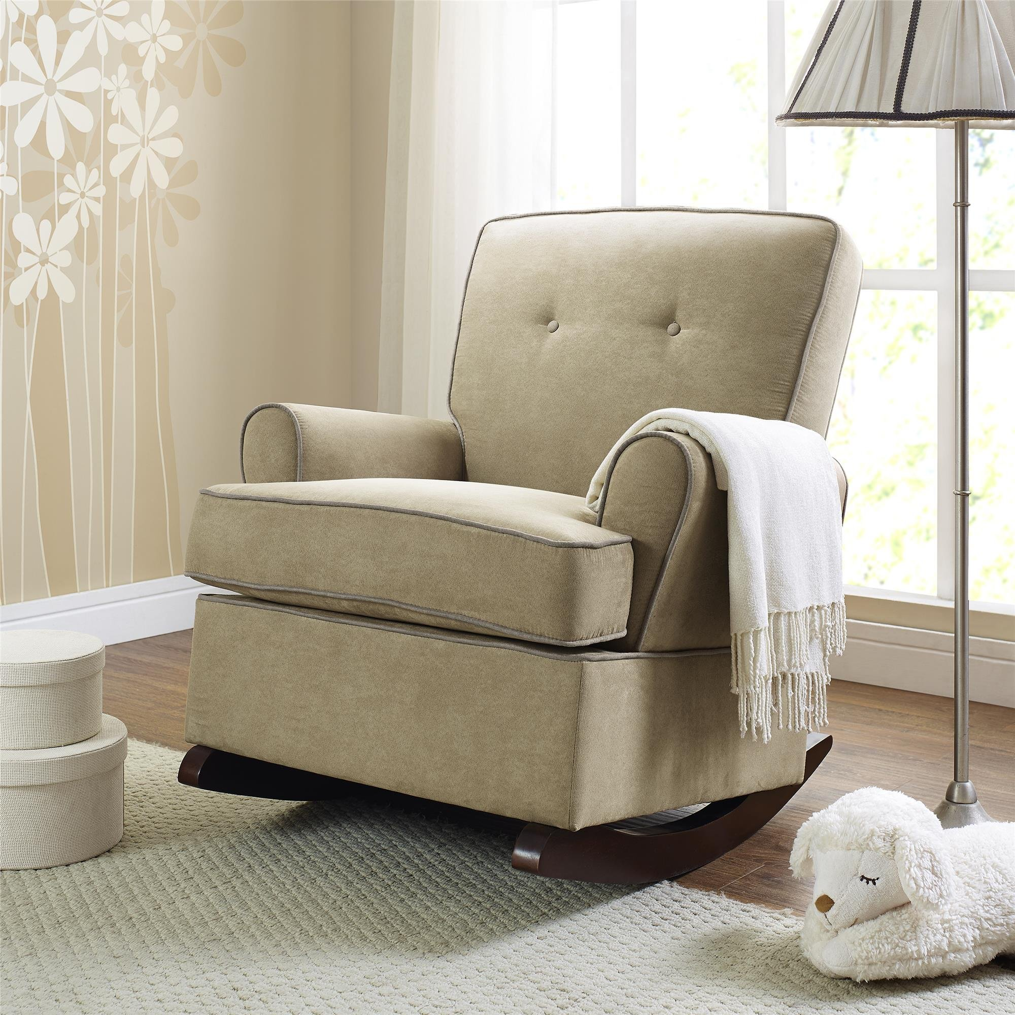 Baby Relax The Tinsley Nursery Rocker Chair, Beige by Baby Relax