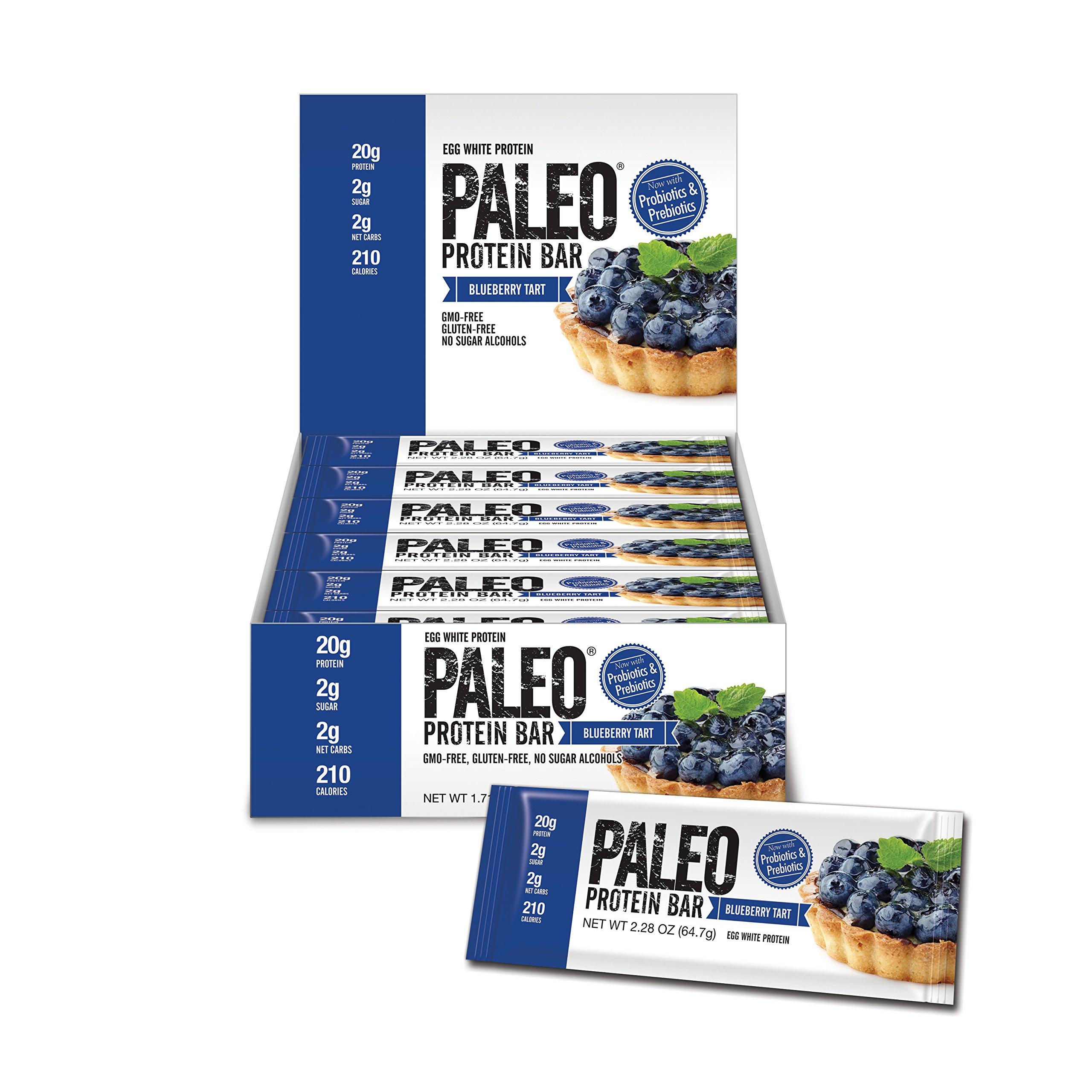 Paleo Protein Bar, Blueberry Tart, Pack of 24 (12 x 2 cases), 2.28 oz (64.7g)