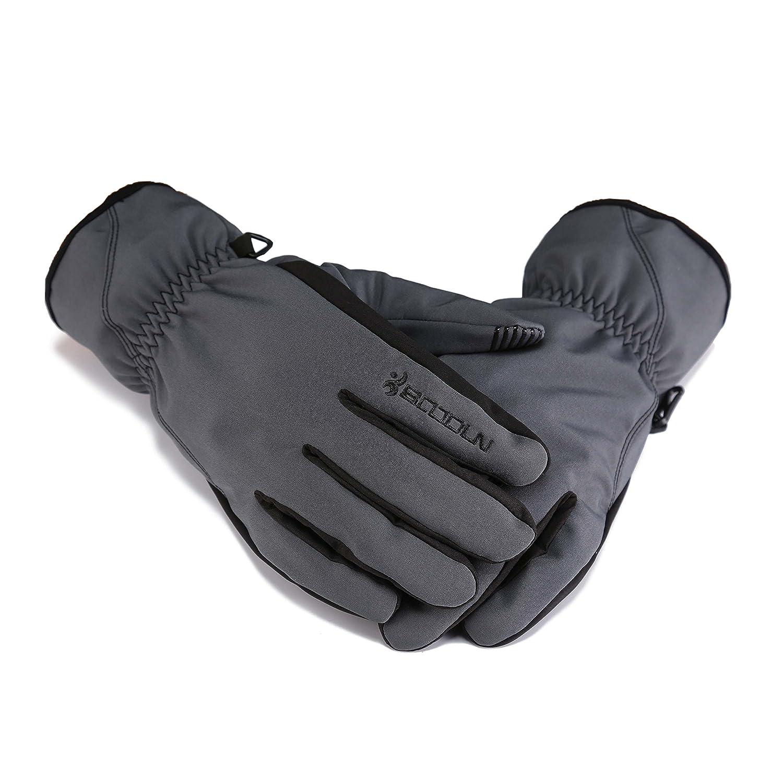 huntvp WR防風ユニセックス冬熱暖かい雪スキースノーボードスノーモービルスキー乗馬手袋 B075KKXG2X Large アトロビレンズ(Atrovirens) アトロビレンズ(Atrovirens) Large