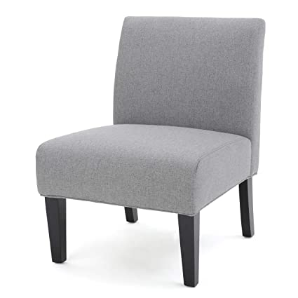 5ec373177 Amazon.com: Christopher Knight Home 299753 Kendal Grey Fabric Accent ...