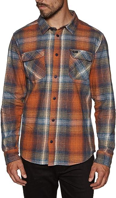 RVCA Muir - Camisa de franela - Naranja - Large: Amazon.es: Ropa y accesorios
