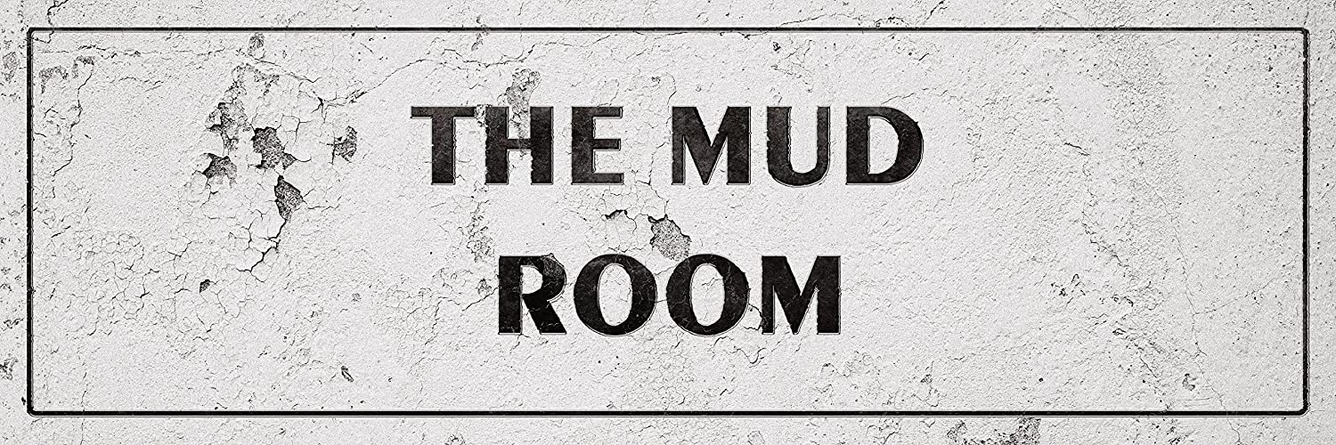 iCandy Combat Vintage The Mud Room Laundry Room Distressed Sign Wall Decor for Country Farmhouse On 12x36 Plastic