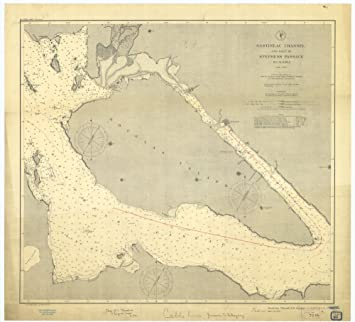 Amazoncom 18 x 24 Canvas 1893 US old nautical map drawing chart of