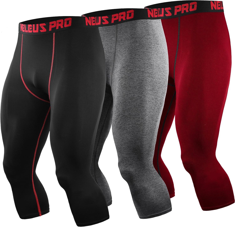 Neleus Men's Dry Fit Compression Pants Workout Running Leggings