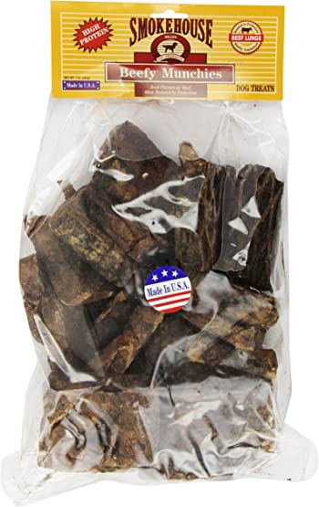 Smokehouse 100-Percent Natural Beef Munchies Dog Treats, 16-Ounce