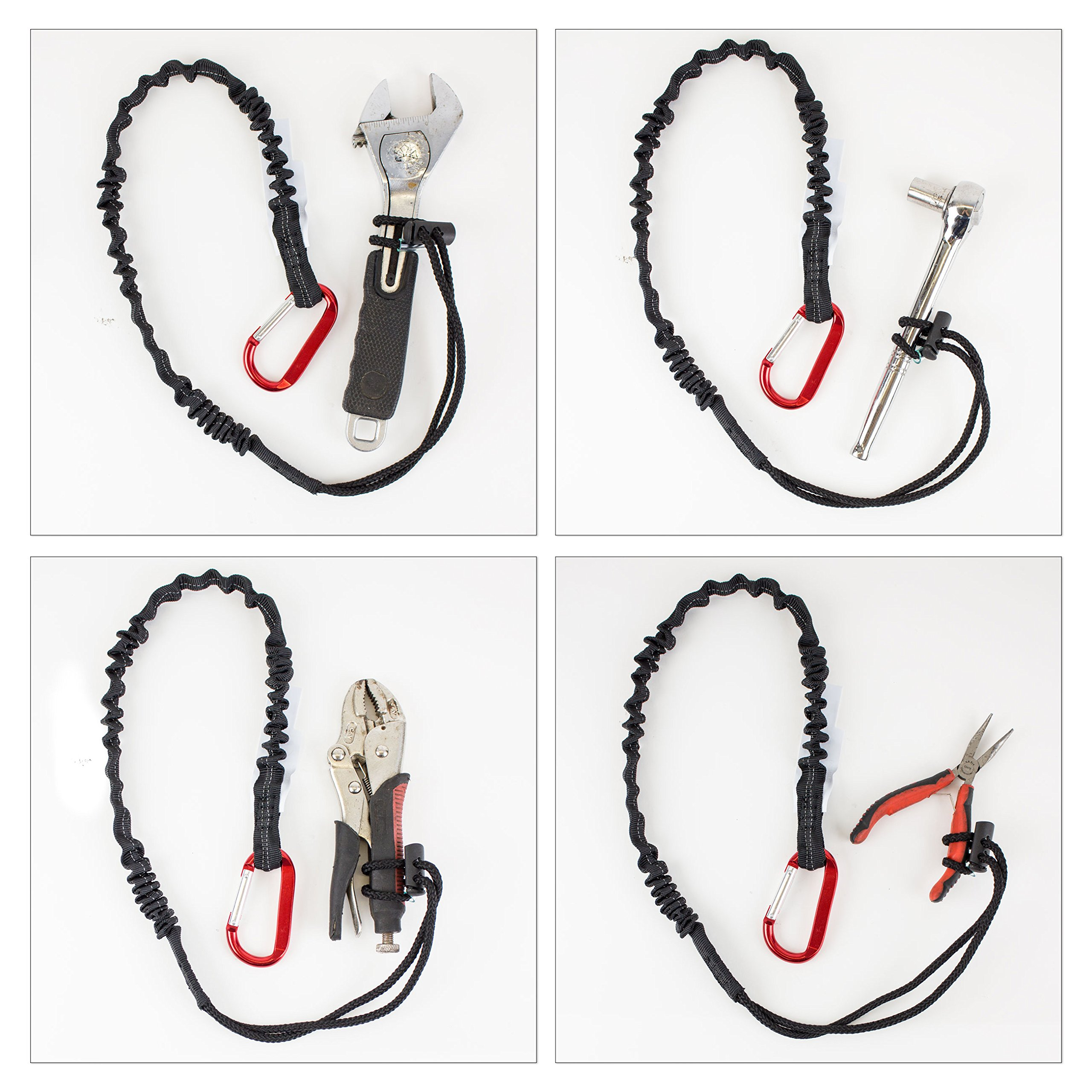 Spidergard SPTOOL02 3ft Tool Lanyard with Single Carabiner (Pack of 3, Black) by Spidergard (Image #5)