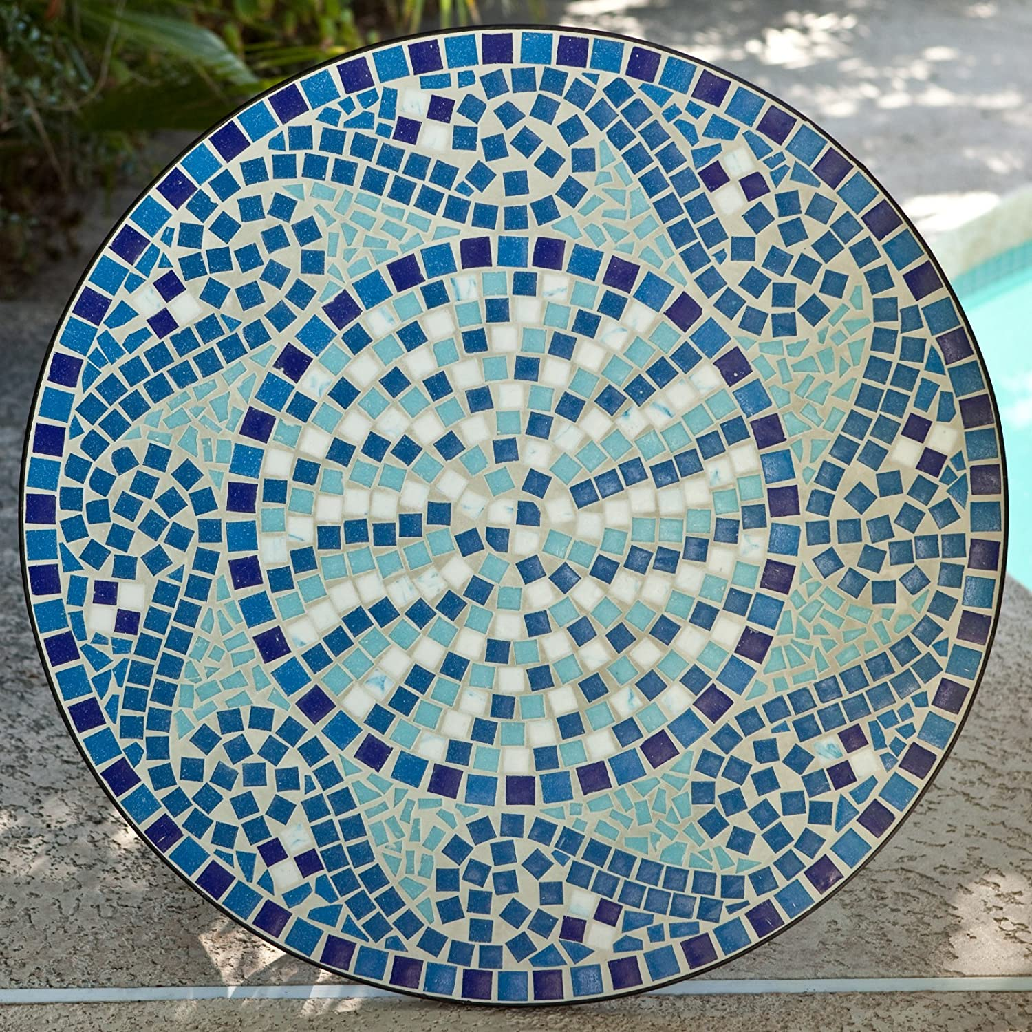 Amazon.com: Coral Coast Marina Mosaic Bistro Set: Garden & Outdoor
