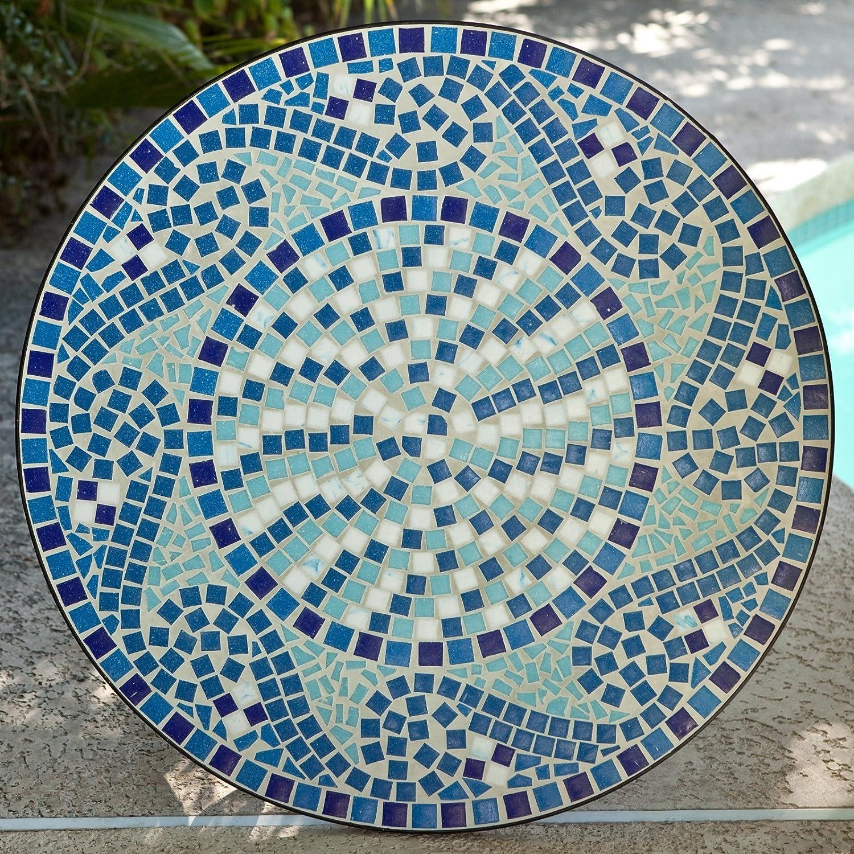 Amazon.com: Coral Coast Coral Coast Marina Mosaic Bistro Table, Mosaic, 30W  X 30D X 28H In.: Garden U0026 Outdoor