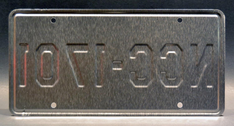 NCC-1701 USS Enterprise Celebrity Machines Star Trek Metal Stamped Vanity License Plate