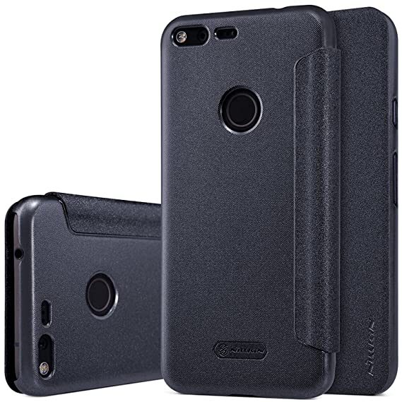 uk availability dd7e8 d1a6d for Google Pixel XL Flip case, Nillkin [Sparkle] Smart Sleep View Window  Slim Folio case, Synthetic Leather Flip Cover, Hard PC Matte Back Shell ...