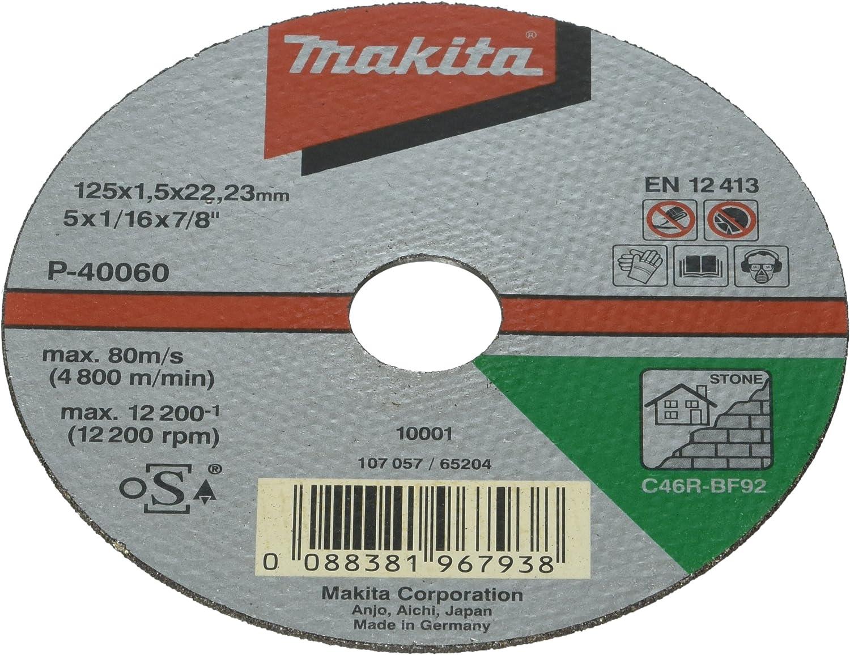Makita Trennscheibe P-40060 Stein dünn 125 x 1,5 x 22,23 mm