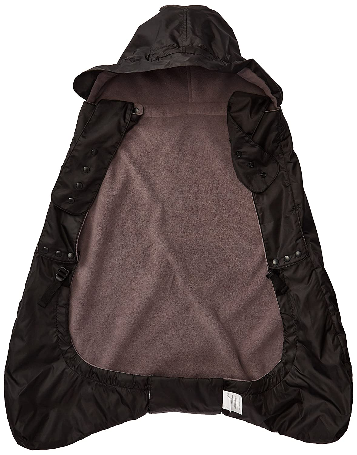 ERGObaby Winter Weather and Rain Cover for Baby Carrier, Isolated Rain Cover with Fleece Lining, Waterproof, black WCW2NL