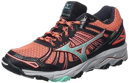 80512cda9458 Mizuno Women's Wave Mujin 3 G-Tx Trail Running Shoes, Pink (Fiery Coral