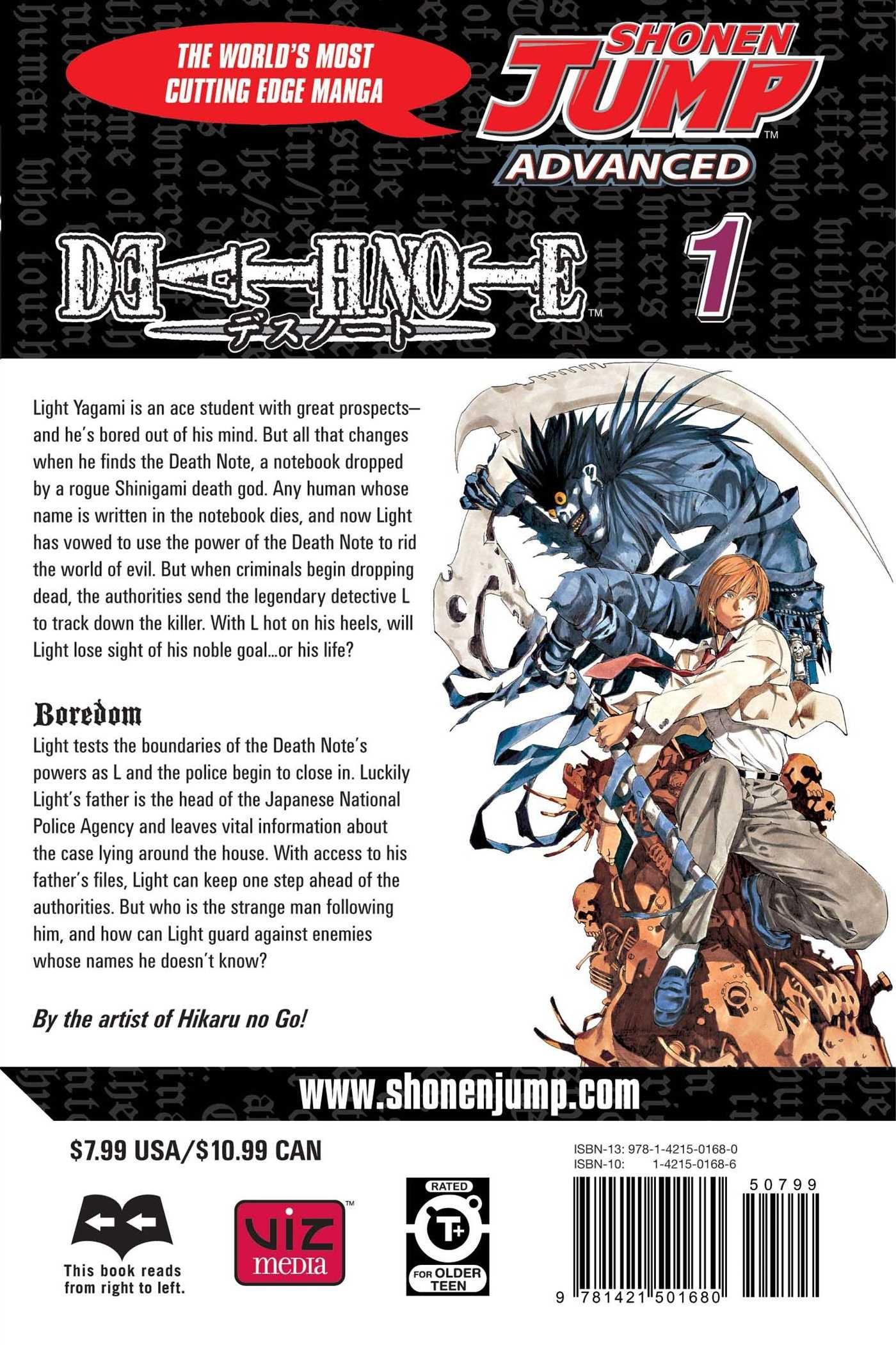 1 Manga 2005, Paperback English by Tsugumi Ohba Death Note Vol