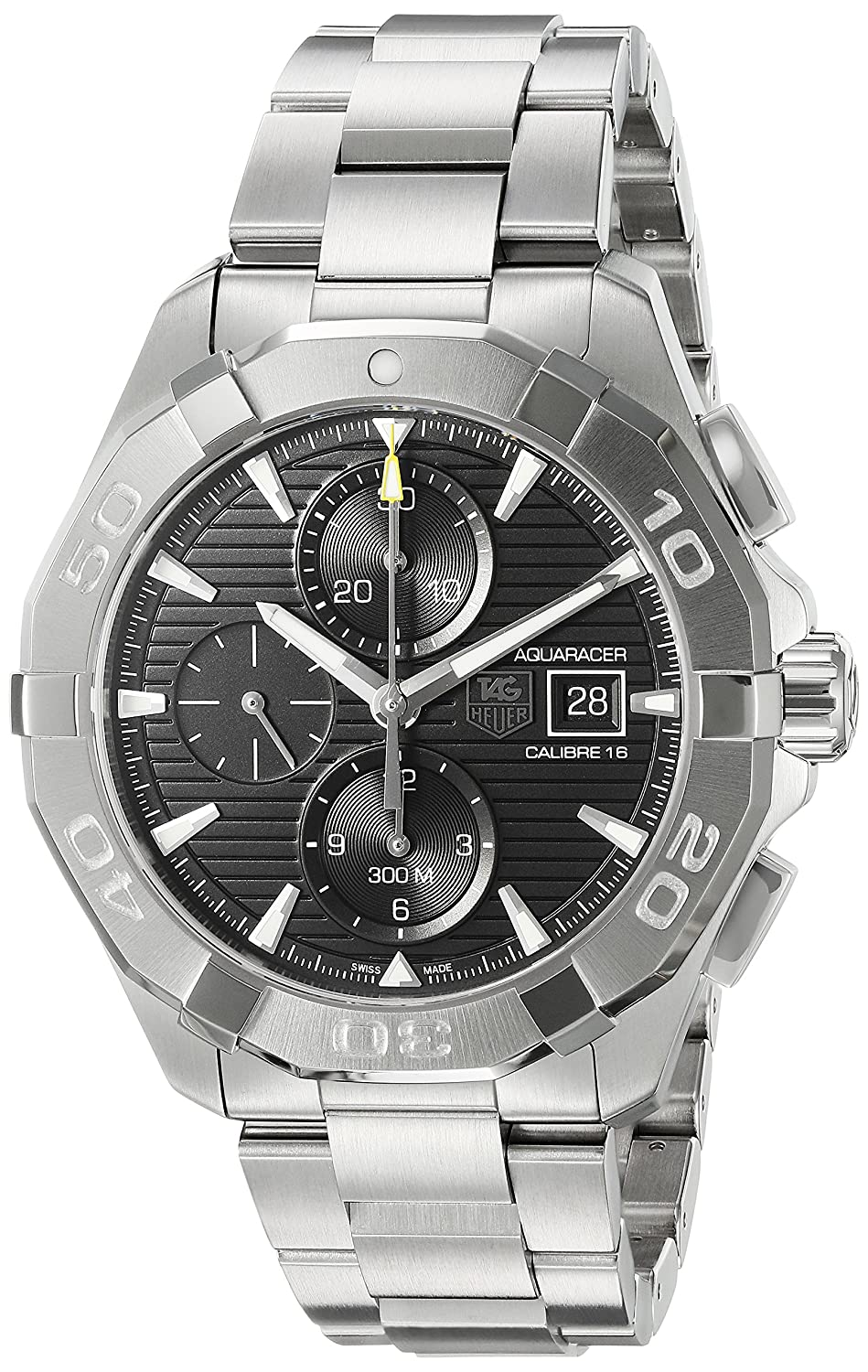 TAG Heuer Men s Aquaracer Swiss-Automatic Watch with Stainless-Steel Strap, Silver, 20 Model CAY2110.BA0927