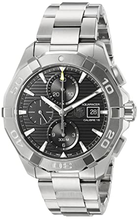 5bb9bf25c6c27 Image Unavailable. Image not available for. Color  TAG Heuer Men s  Aquaracer Swiss-Automatic Watch with Stainless-Steel Strap ...