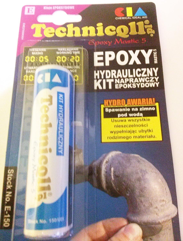 35 G azul Masilla epoxi instalación para radiadores tuberías de unidades de refrigeración sifones etc TECHNICQLL nuevo: Amazon.es: Bricolaje y herramientas
