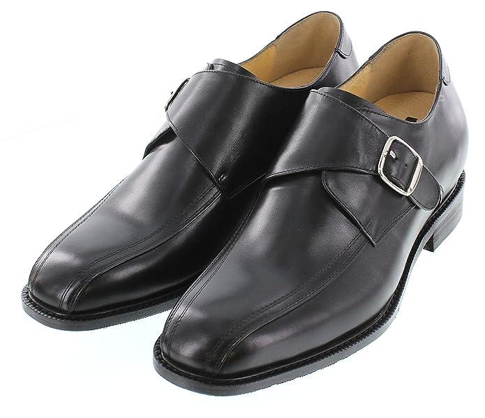Toto–g58295–7,6cm Grande Taille–Hauteur Augmenter Chaussures ascenseur (Noir) à enfiler, Noir - noir, 44.5