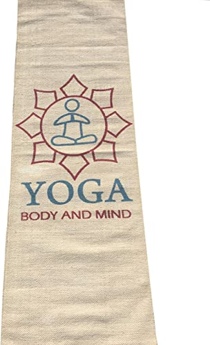 New Eco Friendly Hotels Luxurious Hand Made Yoga Mats 100 Surgical Organic Cotton Environment Friendly 25 x 72 Inch Beige Color Easy Washable Printed with Yoga Bag Free