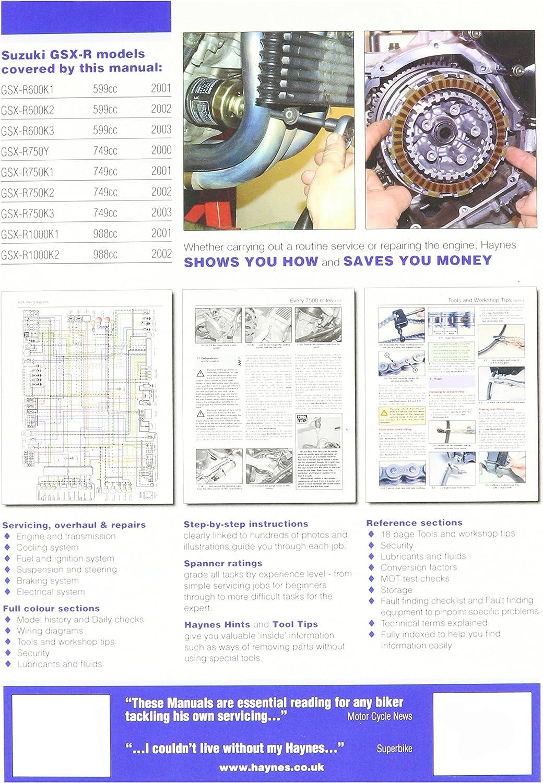 Haynes Repair Manual GSX-R600//750//1000 3986