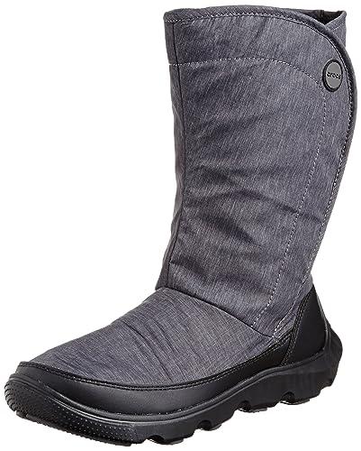 new style aa180 19ceb crocs Damen Duet Busy Day Boot W Stiefel, Schwarz Black, 34 ...