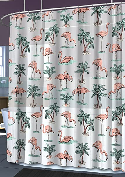 Amazon Flamingo Shower Curtain Home Kitchen