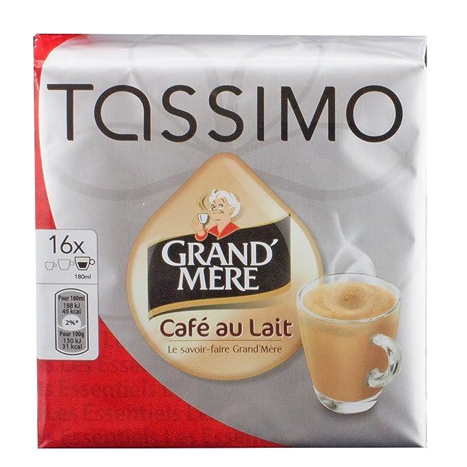 Tassimo Grand mère Café au lait, Café con leche, Café con leche, 80