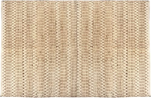 The Knitted Co. Jute Cotton Area Rug